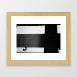 Madrid Shadows in Black & White Framed Art Print