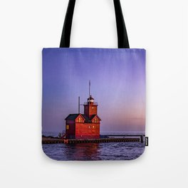 Big Red Lighthouse at Dusk - Holland Michigan Tote Bag