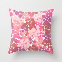 blush Throw Pillows featuring Blush by nandita singh