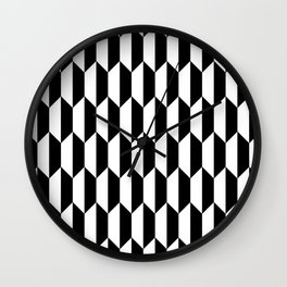 Black Quadrilateral - Baby Stimulation Pattern Wall Clock
