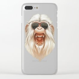 The Great White Angry Monkey Clear iPhone Case