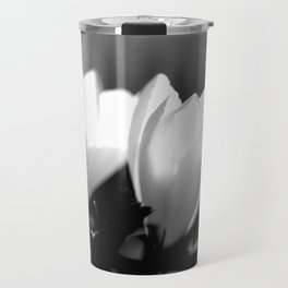 You Two - Crocus Flowers Black And White Travel Mug