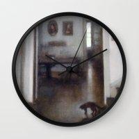shadow Wall Clocks featuring Shadow by Aurelia Burnham