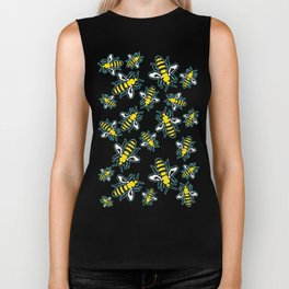 Honey Bee Swarm Biker Tank
