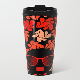 Afro Diva : Coral Red Travel Mug