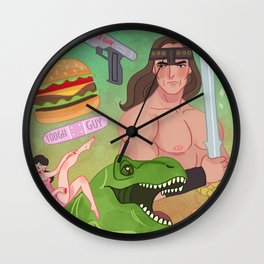 FOR THE BOYS Wall Clock
