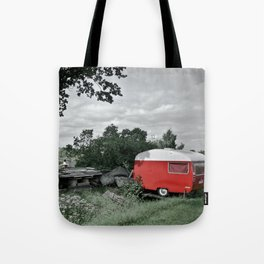 Red Camper Tote Bag