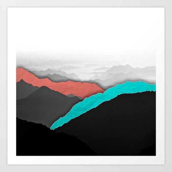Mountain Highlights Art Print