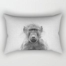Baboon - Black & White Rectangular Pillow