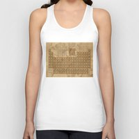 periodic table Tank Tops featuring periodic table of elements by Bekim ART