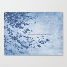 Winter came down to our home one night Canvas Print