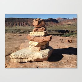 Arches National Park: Rock Stacking Canvas Print