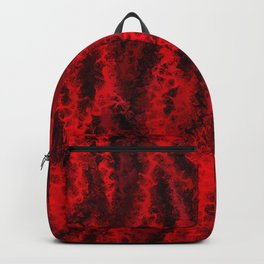 Scarlet Red Coral Abstract Backpack