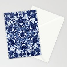 Boho Blue Medallion Stationery Cards