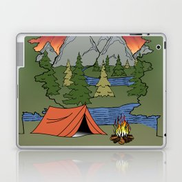 Camp Illustration Laptop & iPad Skin