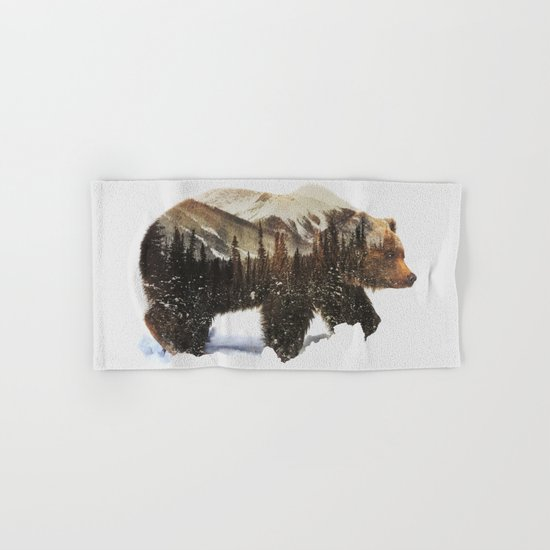 Arctic Grizzly Bear Hand & Bath Towel