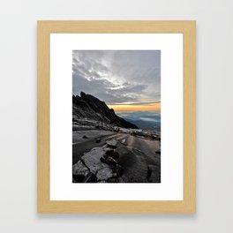 Mt. Kinabalu Framed Art Print