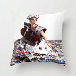 Trapped In the Fashion Throw Pillow
