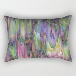 Arise Green Purple Abstract Rectangular Pillow