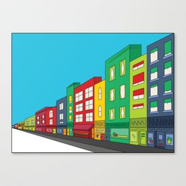 Single Shopping Street Canvas Print