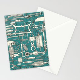 fiendish incisions blue Stationery Cards
