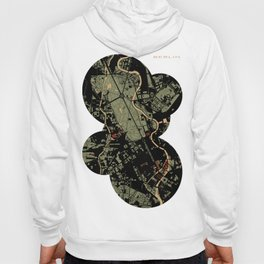 Berlin city map engraving Hoody