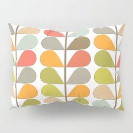 retro mid century modern pattern pillow sham