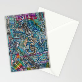 Greece in many languages Stationery Cards