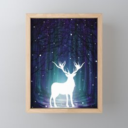 Magic Deer Framed Mini Art Print