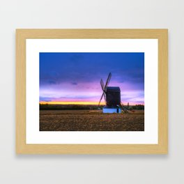 Windmill at Sunset Framed Art Print