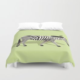 Zebra and Friend Duvet Cover