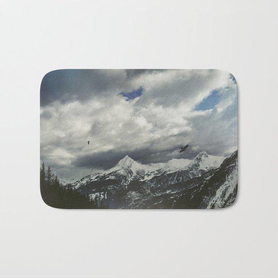 Wild Winter Mountains Bath Mat