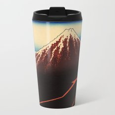 Rainstorm Beneath the Summit (Sanka hakū or 山下白雨) Metal Travel Mug