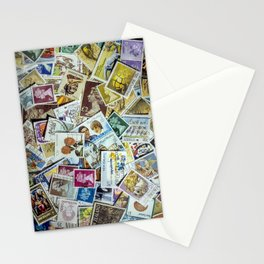 Postage Stamp Collection Stationery Cards