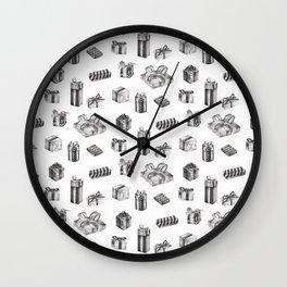 Birthday Presents by Chrissy Curtin Wall Clock