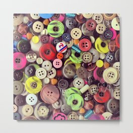 Button Jar Autopsy Metal Print