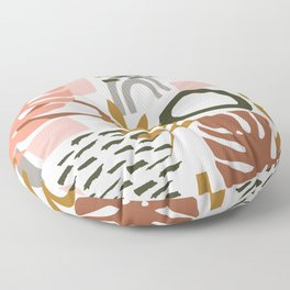 Abstract Floral Geo Floor Pillow