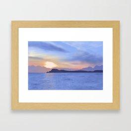Scottish Sunset Framed Art Print