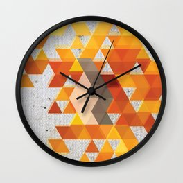 Geometric Penguin Wall Clock