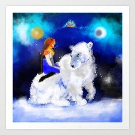 East O the Sun West O the Moon Art Print
