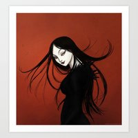 vampire Art Prints featuring Vampire by Arbetta