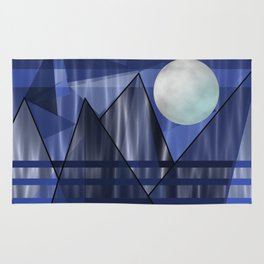 Moon Over The Mountains Rug