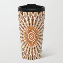 Heart of the Sunflower - Mandala Art Travel Mug