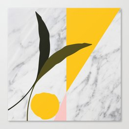 Tropical Marble Canvas Print