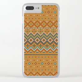 Pattern in Grandma Style #42 Clear iPhone Case