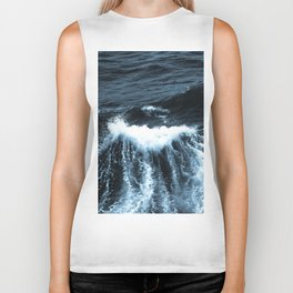 Dark Sea Waves Biker Tank