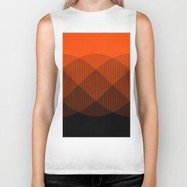Orange to Black Ombre Signal Biker Tank
