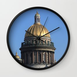 The dome of St. Isaac's Cathedral. Wall Clock