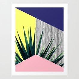 Geometric Leaves Art Print