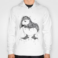 puffin Hoodies featuring Hawt Puffin by Gwyn Hockridge